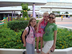 T, Gabby and Mom at Disney World