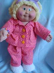 Fuzzy Slippers 005 (sparklerama) Tags: pink cute toys diy dolls handmade sewing crafts cabbagepatch 80s pjs bedtime fuzzyslippers pajamas vintagepattern sparklerama