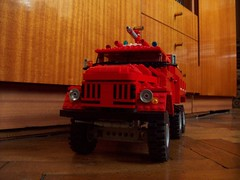 ZIL 131 AA40 (Ciezarowkaz) Tags: truck fire team model lego technic zil 130 131 pumper firestruck ac40 zil131 aa40 zil130