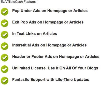 EzAffiliateCash Plugin for WordPress