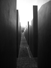 Berlin Holocaust-Mahnmal (Demarmels) Tags: bw white black berlin licht holocaust architektur tobias weiss schatten schwarz mahnmal holocaustmahnmal demarmels artlegacy lumixaward theemptyplaces tobiasdemarmels tobiasdemarmels