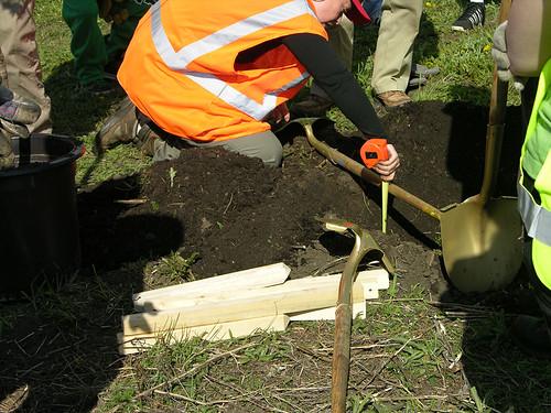 2011 Arbor Day Greenway measure depth