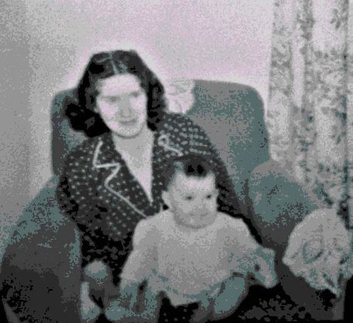 Mom and Me (Digital Woodcut)
