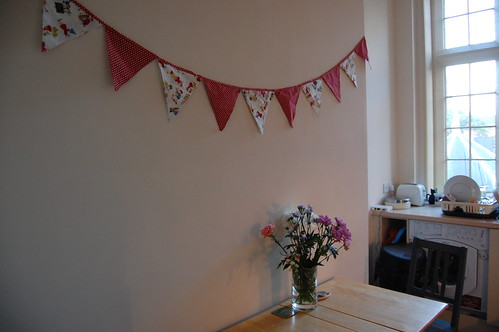 bunting in the kitchen