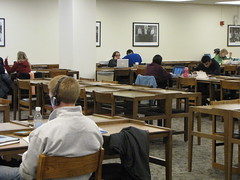 4th floor- students working (Herman B Wells Library) Tags: studying fourthfloor westtower wt4