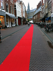 Red carpet in Haarlem
