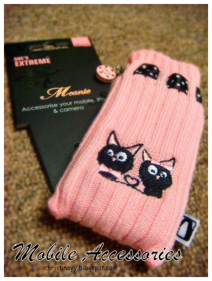 Shopping Items: Pink Mobile Cover & Mobile Chain