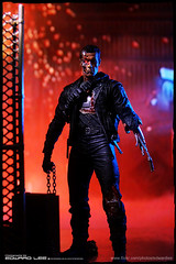 Terminator T-800 (Final Battle) (EdwardLee's collection) Tags: 2 movie toy toys actionfigure day action arnold schwarzenegger collection figure terminator judgment t2 neca t800 endoskeleton 400d edwardlees