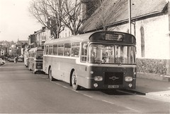King Alfred bus, UOU 418H, Leyland Panther - Winchester, November 1972 (mikeyashworth) Tags: hampshire winchester 1972 leyland leylandbus kingalfredmotorservices leylandpanther uou418h kingalfredbus 11november1972 mikeashworthcollection