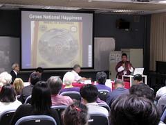 不丹森林部官員介紹保育政策,全場爆滿@2009年第一屆國際民族生物學亞洲區會議