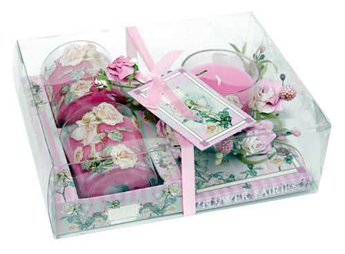 Scented Flower Fairy Candle Gift Set