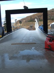 The start of the bobsled track