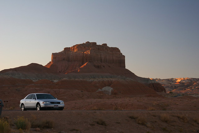 travel utah rocks desert audi a8 goblinvalley