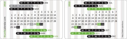 Thumb Calendar 2010 Edition