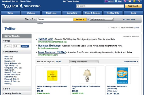 Yahoo! Shopping Search Results for Twitter