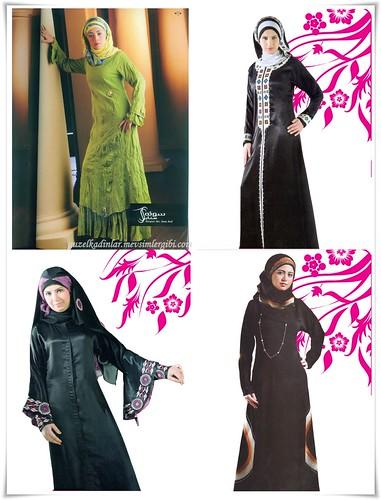 Yurt Dışından Kapalı Abiyeler Tesettürlü Edepli Elbise Modelleri
