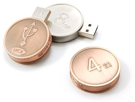 Stylish USB Drive with Euro Coin Shape