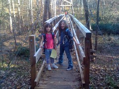 Girls on Walnut Creek Suspension Bridge