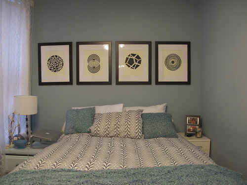 Finally, art above the bed