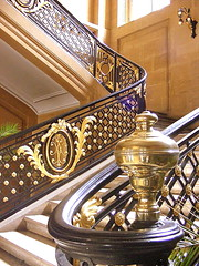 The main staircase (mujepa) Tags: france gold stair cityhall treppe escalera step scala rathaus lorraine marche mairie metz prefeitura hteldeville municipio moselle dor escadaria scalier