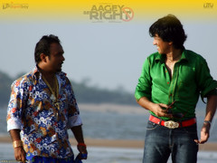 [Poster for Aagey Se Right with Aagey Se Right, Indrajit Nattoji, Kay Kay Menon, Shreyas Talpade, Vijay Maurya]