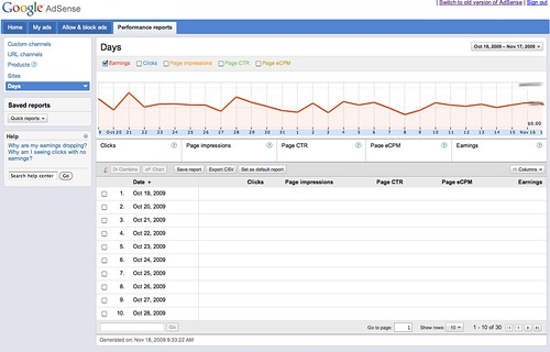 New Google AdSense Interface