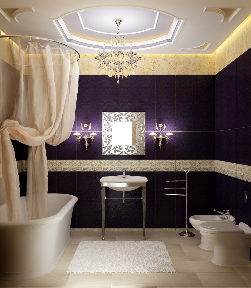 Unique Ceiling for Bathroom