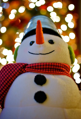 "Frosty the ""Bokeh"" Snowman"