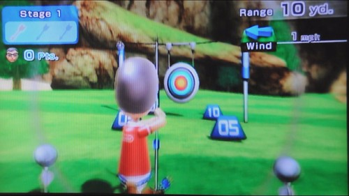 Wii Archery video from Sports Resort