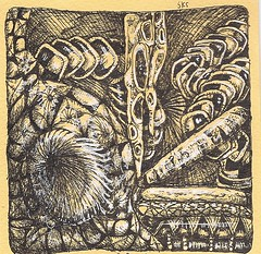 Traded-Ottoman and Chair (molossus, who says Life Imitates Doodles) Tags: tile zentangle zendoodle zentangleinspiredart