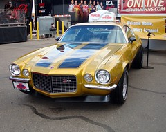 Papa John's 1971 Camaro Z28 (Have Fun SVO) Tags: auto chevrolet phoenix car advertising gold 1971 az 71 camaro pizza chevy nascar  coches spotting z28 pir papajohns   johnschnatter