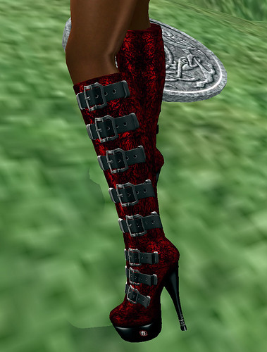 Red or Dead hunt EvA BlackRed Gothic boots