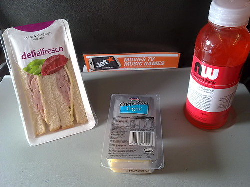 Buy-on-board food on Jetstar