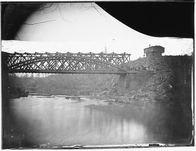 Bridge and blockhouse built by US engineers by The US National Archives