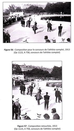 Retouche dimage, concours Lathlète complet, Le Journal, 1913 (cliquer pour agrandir).