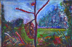 One last surprise (Blu Marshall) Tags: autumn art painting acrylic fields nettle hedgerow ortie
