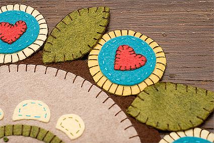 felt article penny rug 6