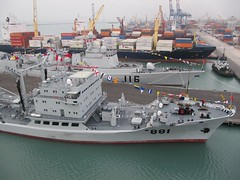 Chinese Warships (Train Fan) Tags: port boats lima ships navy chinese callao shijiazhuang warships replenishmentship chinesenavy missiledestroyer hongzehu
