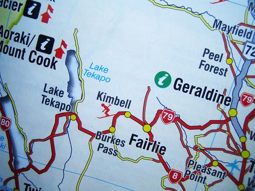 Lake Tekapo Map