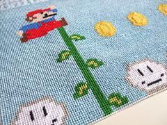 Super Mario 1 Needlepoint (lost_mitten) Tags: crossstitch stitch handmade nintendo craft retro needlepoint videogame nes supermario mario1