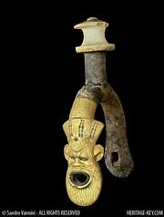 Detail of Saddle Harness from the Chariot of King Tutankhamun (Sandro Vannini) Tags: art kingtut egypt nubians bes beliefs egyptians goldenchariot egyptianmuseumcairo asiatics heritagekey sandrovannini ceremonialchariots statechariot