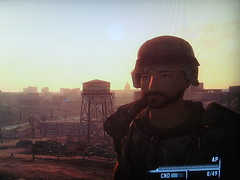 Combat armor () Tags: camera sunset 3 photo washington screenshot character captured armor combat playstation wasteland camshot fallout ps3
