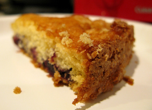 Blackberry almond buttermilk cake