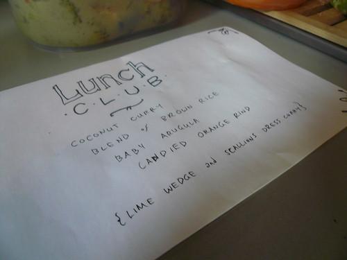 Wednesday menu