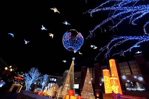 Christmas lights at Solana