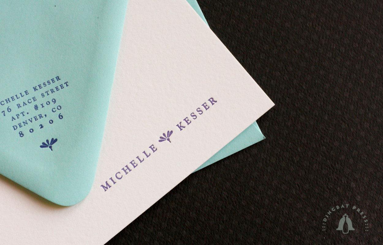 Signature Dingbat A6 Flat letterpress notes
