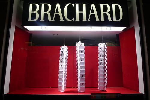 Vitrines soldes Brachard - Genève, Janvier 2010