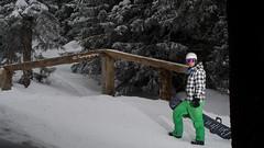 The Rail (sharpneil) Tags: people snow france mountains canon snowboarding eos 350d woods neil sharp avoriaz thestash sharpographycouk