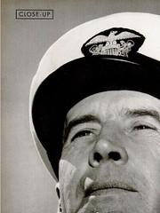 "Admiral Joseph ""Ernie"" King hat badge detail, 24 November 1941"