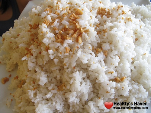 family garlic rice ikabun